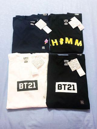 BT21 Tshirt Uniqlo | Kaos BT21 Uniqlo