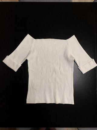 Fray I.D white off shoulder top