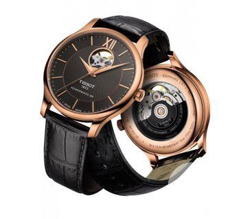 Tissot Tradition Powermatic 80 Black Leather Watch T063.907.36.068.00