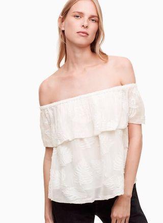 BNWT Aritzia Promener off the shoulder blouse