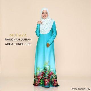 MUNAZA Jubah Raudhah Printed