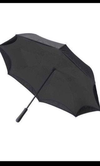 Windproof & waterproof umbrella ; reverse open tech