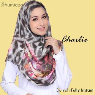 Fully instant shawl printed