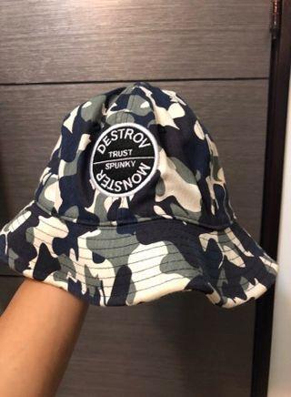 🚚 藍迷彩漁夫帽