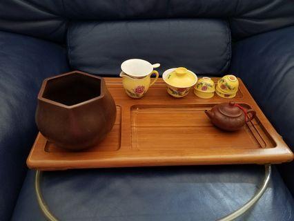 Tea set and tea pot and 茶盤