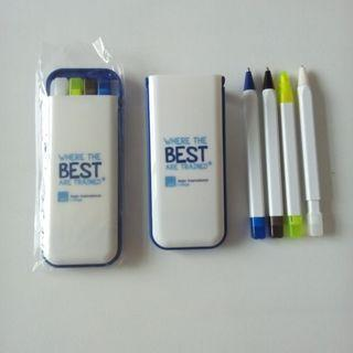 Brand New with Highlighter, Mechanical Pencil, Black & Blue Pen