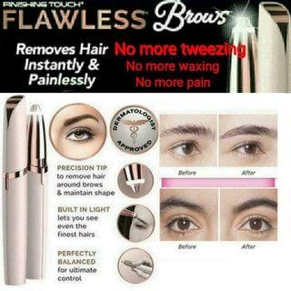 🚚 No more Tweezing!!Painless Electric Eyebrow Flawless Brows Hair Remover LED Face Eyebrow.Usual $29.90. Now : $12.90 only.
