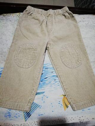 Corduroy khaki pants for baby boy