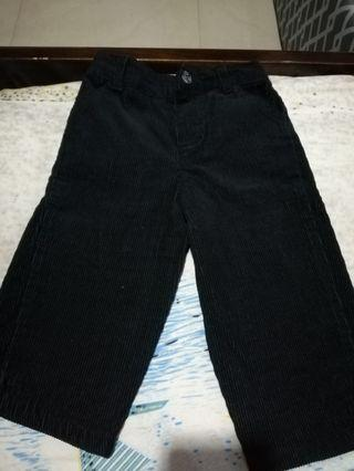 Corduroy black pants for baby boy