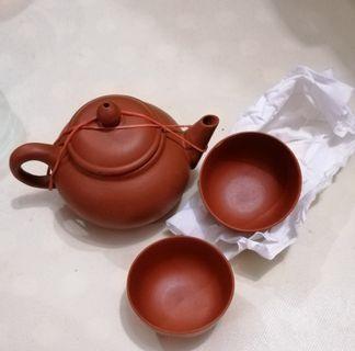 細紫砂茶壺茶杯