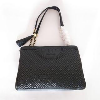Tas Tory Burch Fleming Open Shoulder Bag Black Original Handbag