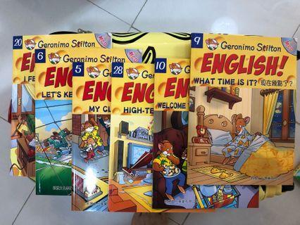 老鼠記者兒童英文學習叢書 95%新