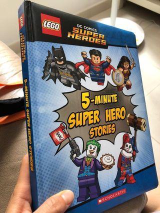 Lego superheroes 5min stories 1本 95%新