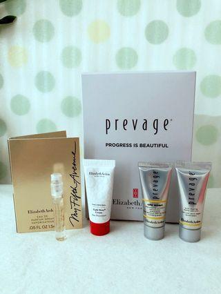 Elizabeth Arden prevage anti-aging serum, hydrating shield, 8H skin protectant, perfume tester