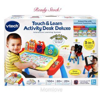 BNIB VTech Touch and Learn 3-in-1 Activity Desk Deluxe Regular for Age 1-5 Year Old (Best Baby Children Kids Birthday Learning Educational Present Gift)