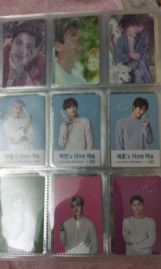 EXO 小卡&貼紙 set