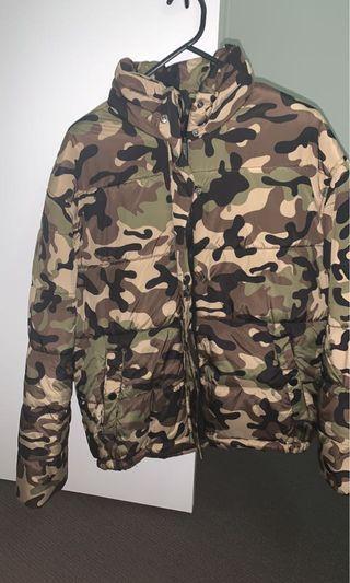 camo puffer jacket oversized
