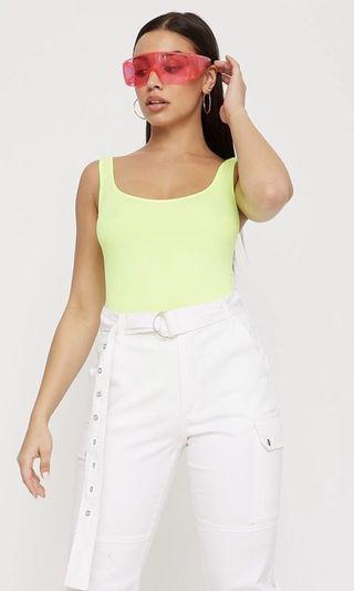 BNWT neon yellow bodysuit
