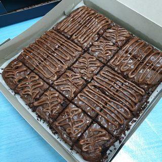 Brownies with nutella topping murah