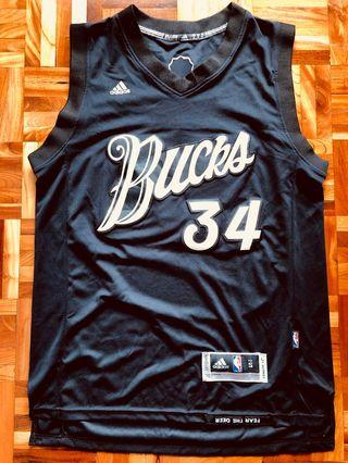 Adidas Giannis Antetokounmpo 聖誕球衣 NBA 公鹿隊 Bucks Jersey MVP