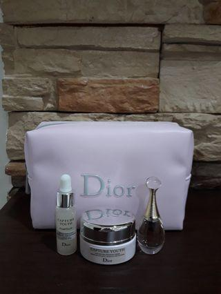 Authentic Dior Pink Pouch set
