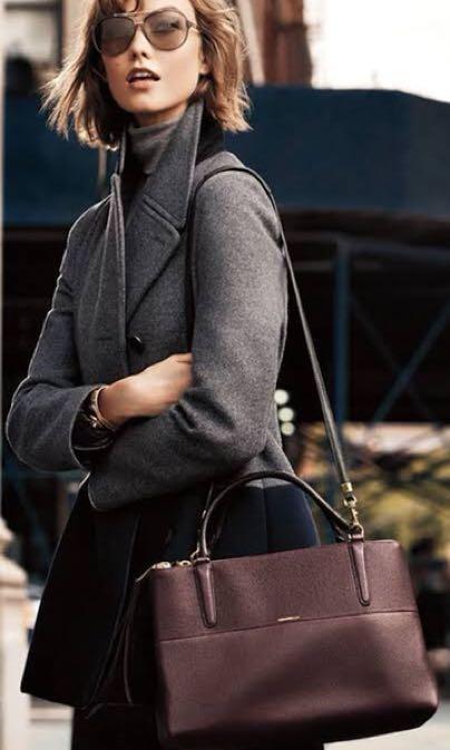 100% Original Coach Black Borough bag - Tas kerja / Working bag