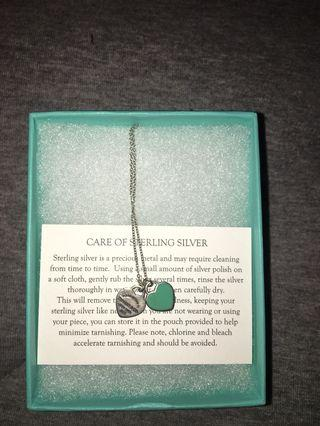Tiffany&Co Double Blue Heart Necklace