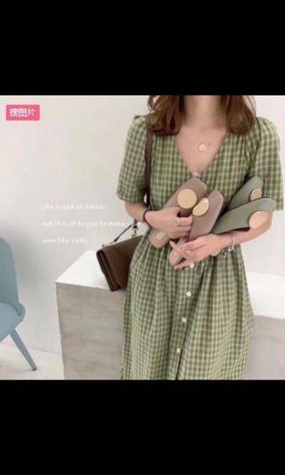 4XL❤現貨❤洋裝 連衣裙 短袖洋裝 格子洋裝 大尺碼洋裝 連身洋裝 休閒洋裝 連身裙 女生洋裝 正韓洋裝 長洋裝