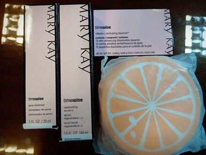 Mary Kay Replening Serum C + Pore Minimizer (Free Activating Square + Coin Pouch)