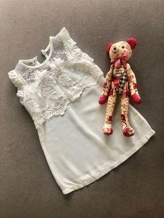 Baby girl clothing brand elegant lace dress