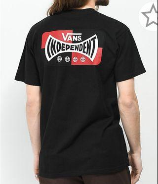 Vans X independent Logo Black T -Shirt
