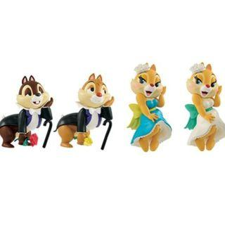 Disney Characters Lovers Moment Chip & Dale with Clarice (1套4隻)