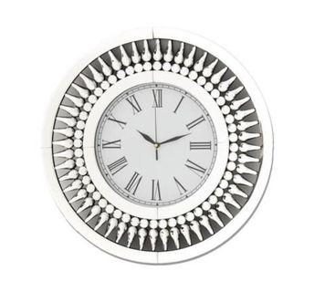 Mirrored wall clock