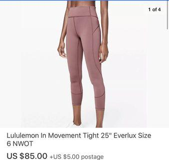 🚚 Lululemon in movement 7/8 tights size 6