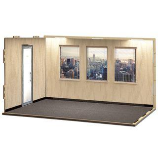 [現貨] 箱庭技研 hakoniwagiken Diorama Room M Set 11 Office A (Sticker Applied) ジオラマルームM セット11 オフィスA(シール貼付け済)