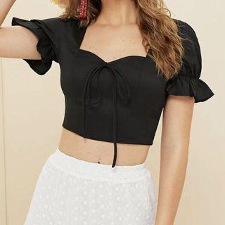 Crop Bow Front Top (XS)