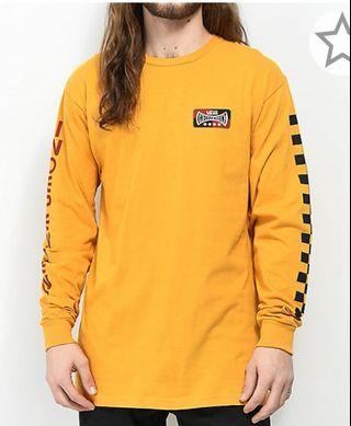 Vans X independent check Sunflower Long Sleeve T-Shirt