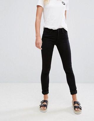 Monki Slim Mid Waist Jeans