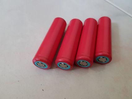 4x 18650 rechargeable batteries
