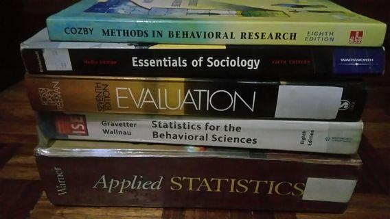Statistics, Sociology and Nutrition Books