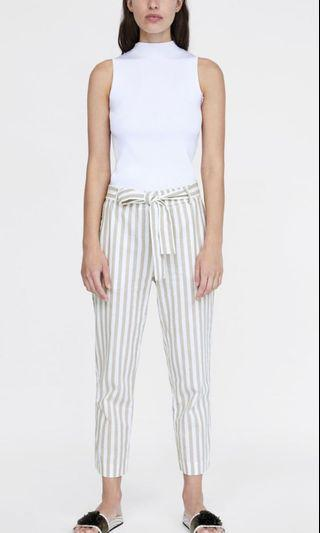 Zara Cotton Pants - Jogging Trousers with Bow
