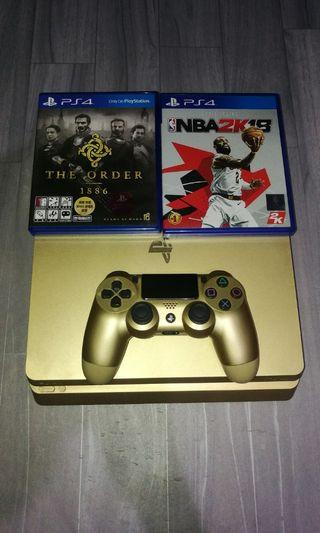 Ps4 slim gold 500gn hdr