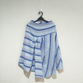 SOL Blue Striped Skirt