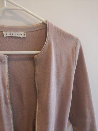 Women's size 6 pink peplum top jacket