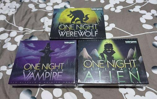 One Night Ultimate Werewolf Card Game Bundle