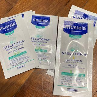 Mustela Stelatopia emollient cream and bath oil