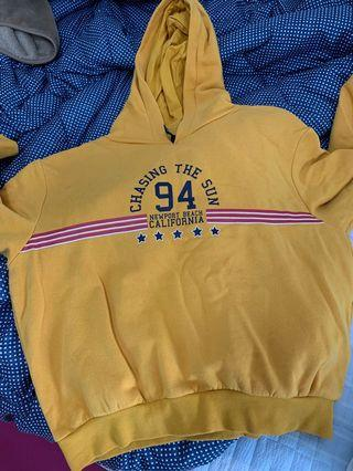 h&m yellow hoodie