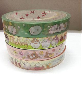 [BN] Molang/ Rilakkuma Washi Tape