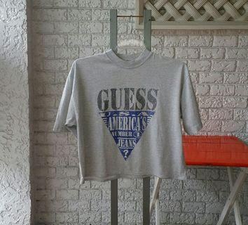 Vintage Guess T Shirt US Size S Oversized Athletic/Casual/Sleepwear