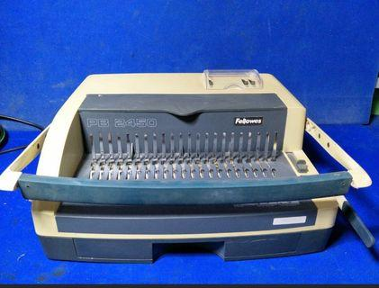 🚚 Fellowed PB2450 Comb Binding Machine @$ 80 each